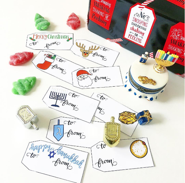 Christmas Hanukkah Holiday Gift Tags
